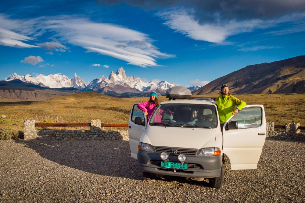 Realcamplife blog o cestování do Norska a na Island: Radka a Ivar v Patagonii s dodávkou