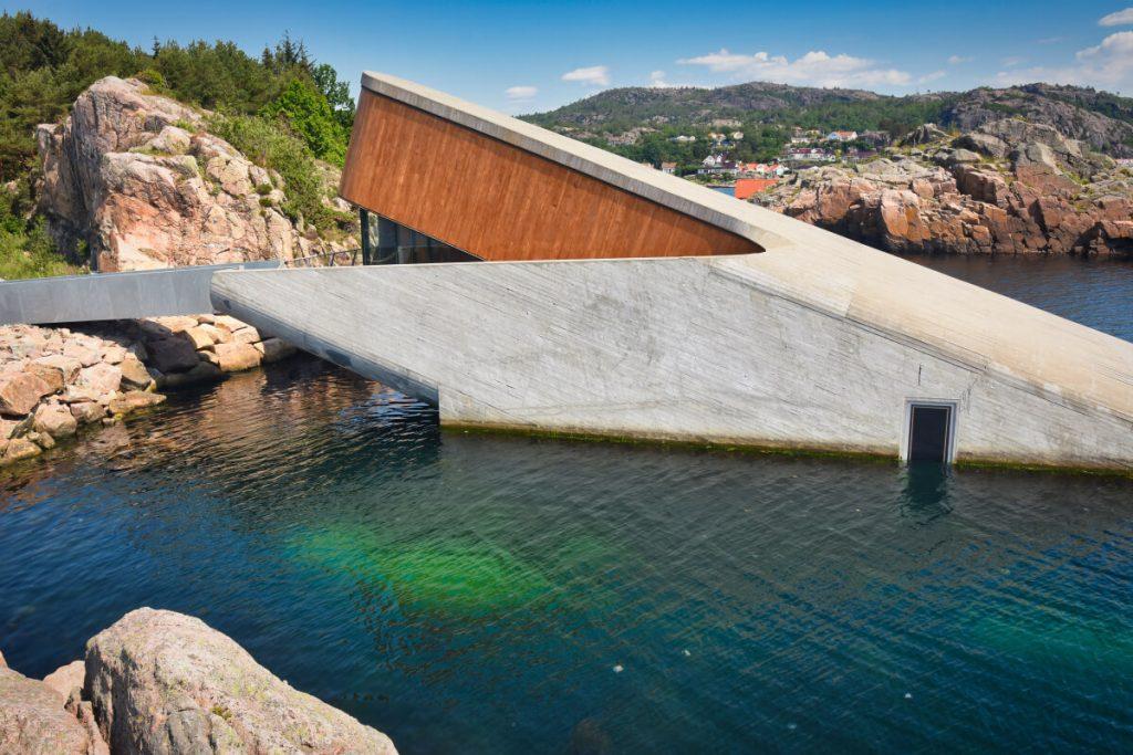 Podvodní restaurace Under v norském Lindesnes