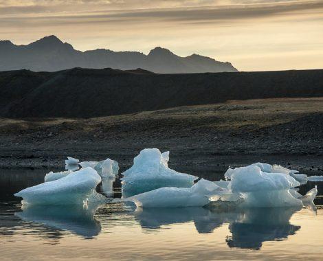 laguna Jokulsarlon na jihu Islandu
