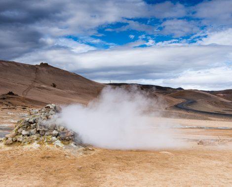 Island cestopis: geotermální oblast Hverir